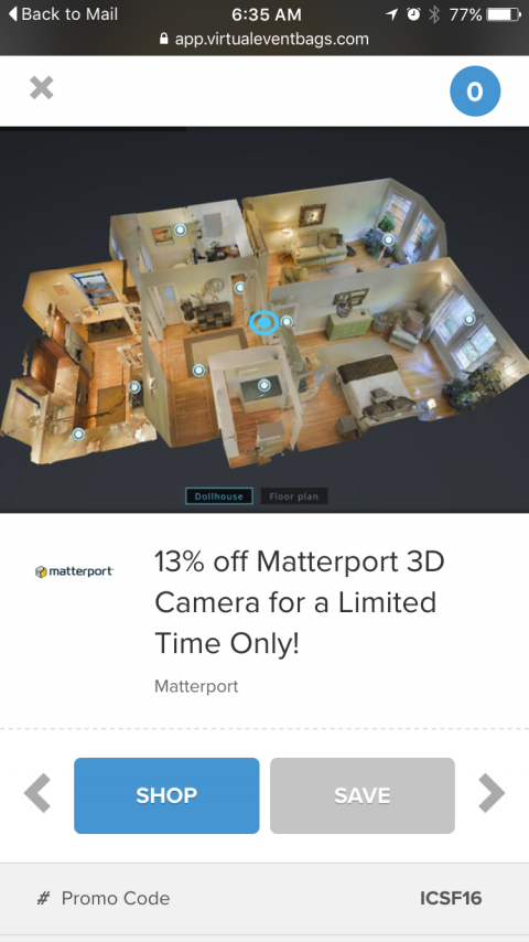 ICSF16-13% off Matterport Camera+$200 Rebate | We Get Around
