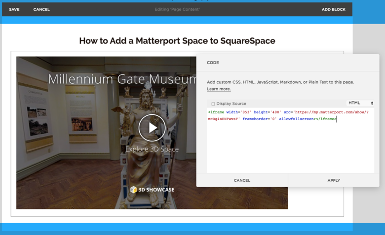SquareSpace & Matterport | We Get Around Network Forum | Page 1