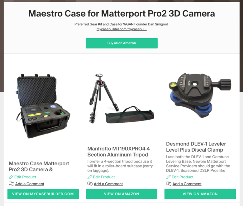 WGAN Collection: Maestro Case for Matterport Pro2 3D Camera